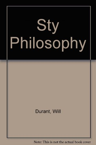 9780671816742: Sty Philosophy [Paperback] by Durant, Will