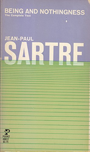 9780671824334: Being and Nothingness: A Phenomenological Essay on Ontology by Sartre, Jean Paul