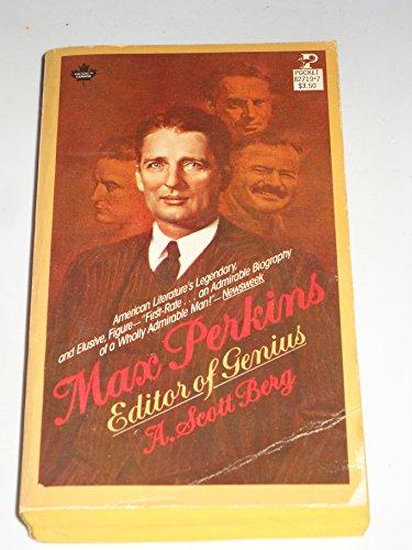 9780671827199: Max Perkins: Editor of Genius