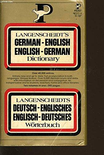 9780671827823: Langenscheidt's German-English / English-German Dictionary
