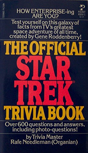 9780671830908: The Official Star Trek Trivia Book
