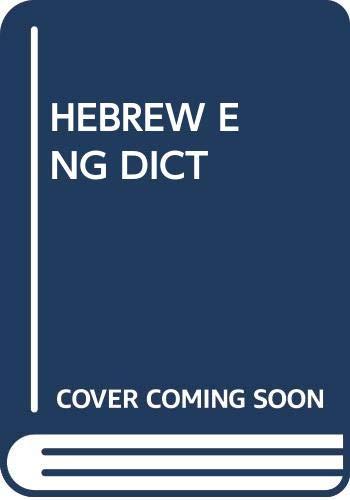 9780671833589: Hebrew Eng Dict