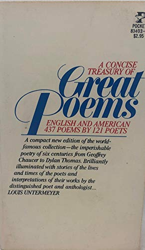 9780671834036: Treasury of Great Poems