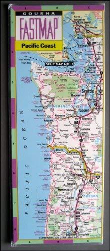 9780671847340: Gousha Fastmap Pacific Coast