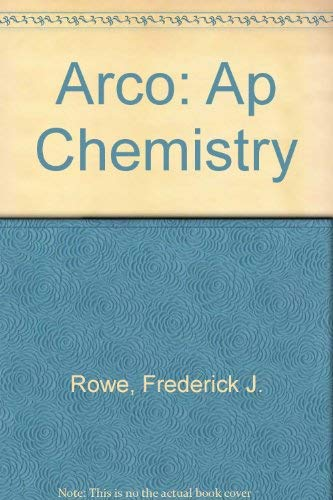 9780671847784: AP Chem 3E (Arco Master the AP Chemistry Test)