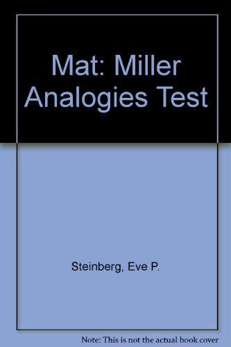 9780671868963: Mat: Miller Analogies Test