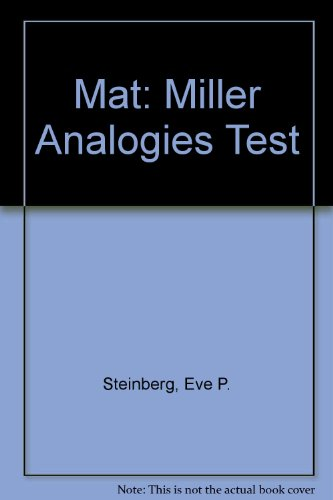 9780671868963: Mat: Miller Analogies Test (Arco Master the Miller Analogies Test)