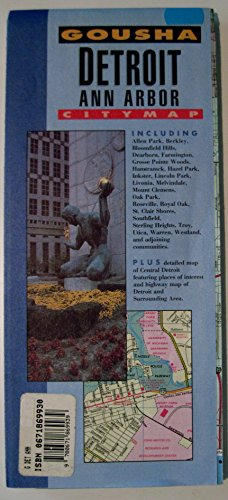 Gousha Detroit Ann Arbor Citymap (0671869930) by Gousha