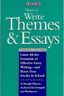 how to write themes essays rd ed arco s how to  9780671870577 how to write themes and essays