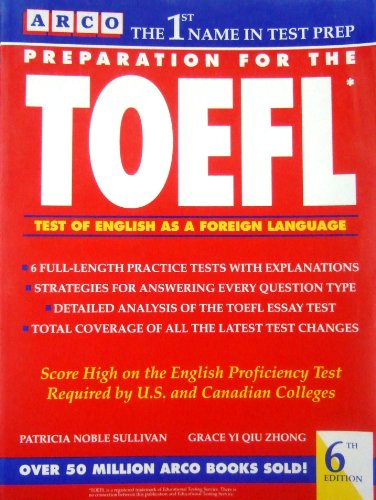 9780671871338: Preparation for the TOEFL: Test of English as a Foreign Language (Arco Master the TOEFL)