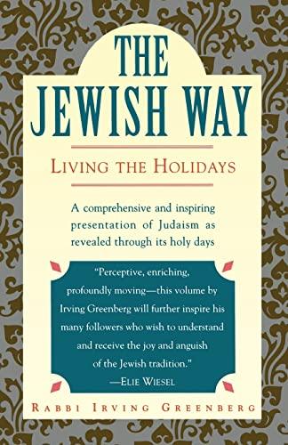 9780671873035: The Jewish Way: Living the Holidays