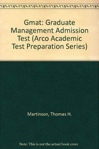 9780671874636: Gmat: Graduate Management Admission Test (Arco Academic Test Preparation Series)