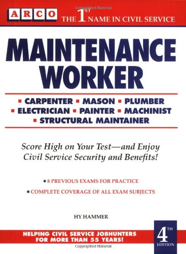 9780671879419: Maintenance Workers Exam, 4th ed (Complete Arco Test-Tutor)