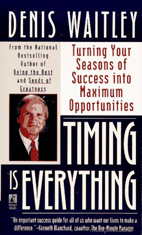 Timing Is Everything: Timing Is Everything 9780671881023 Stating that timing is pivotal to achieving success, a noted motivational speaker demonstrates how to maximize individual talents while synchronizing personal needs in order to create opportunities. Reprint.