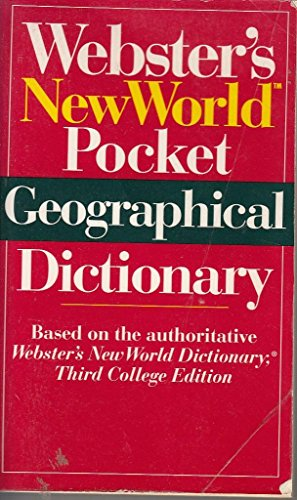 9780671883485: Webster's New World Pocket Geographical Dictionary