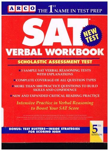 Sat Verbal Workbook: Miller, Walter James; Zahler, Kathy A.
