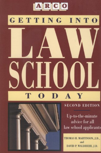 9780671890339: Getting into Law School (Getting Into Law School Today)