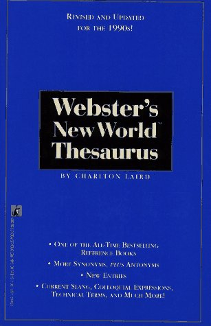 WEBSTER'S NEW WORLD THESAURUS: Third Edition (9780671894504) by Laird, Charlton