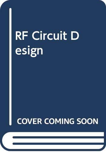 9780672218682: RF Circuit Design