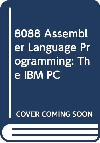 9780672224003: 8088 Assembler Language Programming: The IBM PC