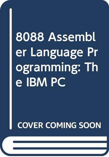 9780672224003: 8088 Assembler Language Programming: The IBM PC