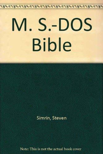 9780672224089: M. S.-DOS Bible