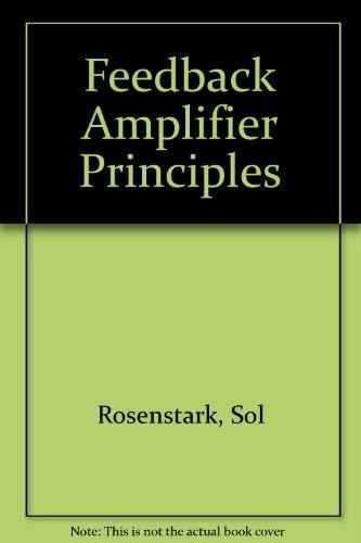 9780672225451: Feedback Amplifier Principles