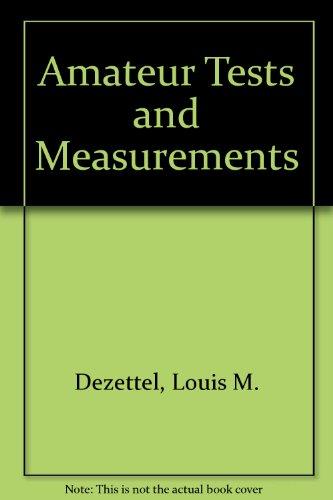 9780672240072: Amateur Tests and Measurements