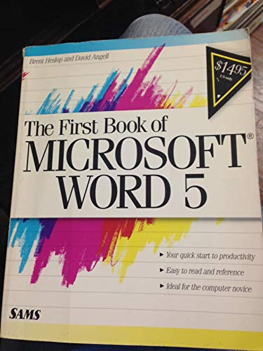 9780672273025: First Book Microsoft Word 5.0