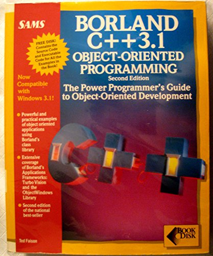 9780672301407: Borland C++ 3.1 object-oriented programming