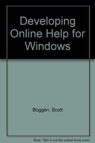 9780672302305: Developing Online Help for Windows/Book and Disk