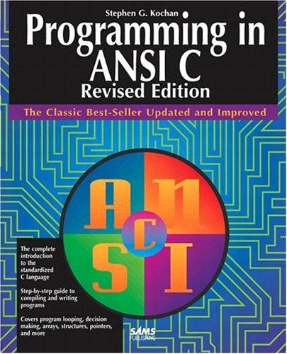 9780672303395: Programming in ANSI C