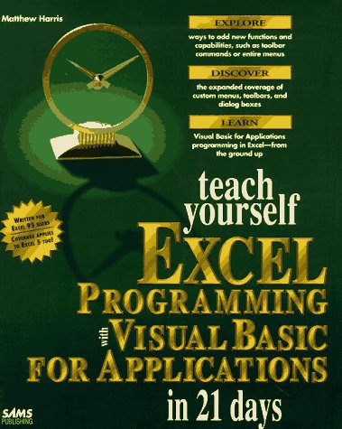 Teach Yourself Excel Programming With Visual Basic for