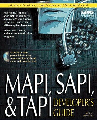 9780672309281: Mapi, Sapi, and Tapi: Developer's Guide