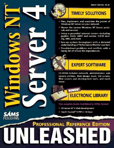 9780672310027: Windows Nt 4 Server Unleashed: Professional Reference Edition