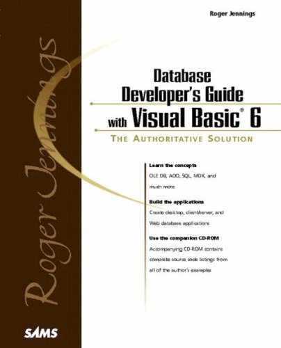 9780672310638: Roger Jennings' Database Developer's Guide with Visual Basic 6 (Professional)