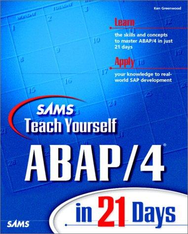 9780672312175: Sams Teach Yourself ABAP/4 in 21 Days