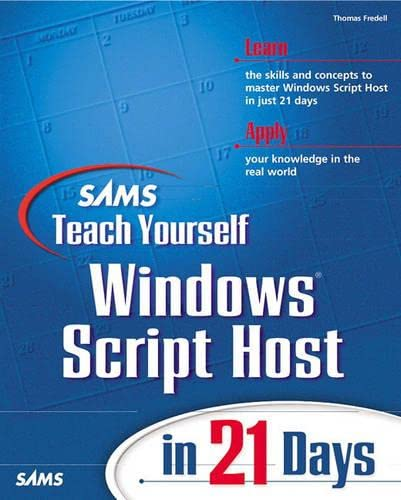 9780672313745: Sams Teach Yourself Windows Script Host in 21 Days