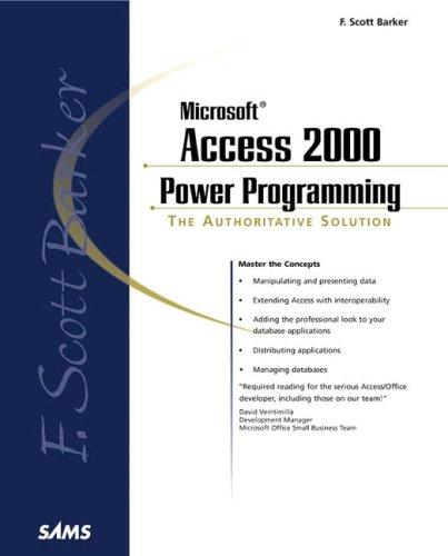 9780672315060: F. Scott Barker's Microsoft Access 2000 Power Programming