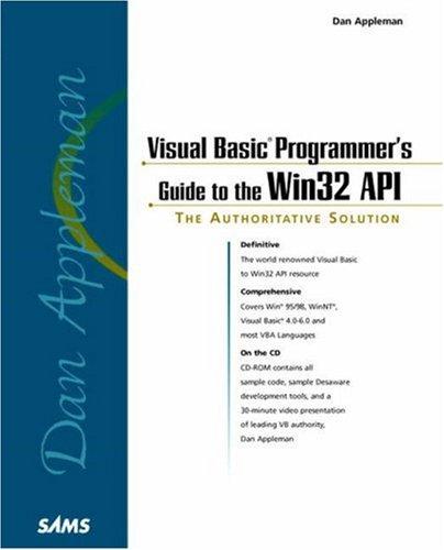9780672315909: Dan Appleman's Visual Basic Programmer's Guide to the Win32 API