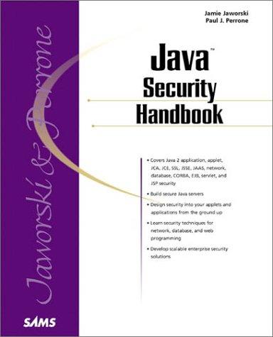 9780672316029: Java Security Handbook