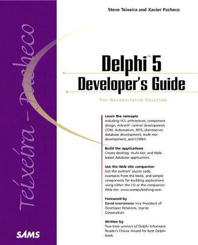 9780672317811: Delphi 5 Developer's Guide (Developer's Guide)