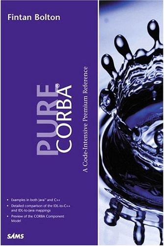 9780672318122: Pure Corba