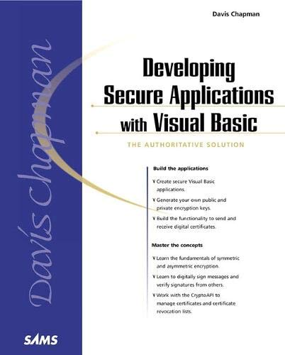 9780672318368: Developing Secure Applications with Visual Basic