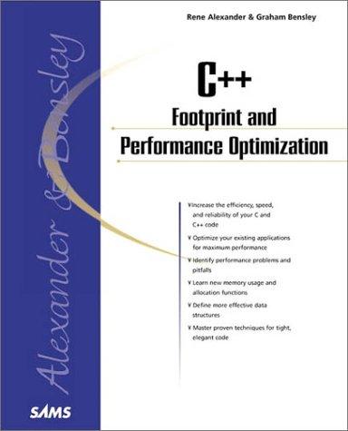 9780672319044: C++ Footprint and Performance Optimization (Sams Professional)