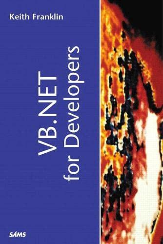 9780672320897: VB .NET for Developers