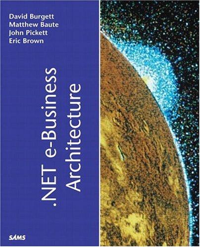 9780672322198: .NET e-Business Architecture