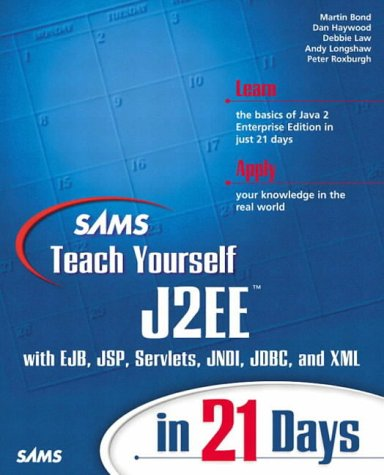 9780672323843: Sams Teach Yourself J2EE in 21 Days