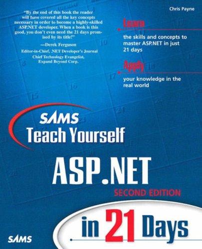 9780672324451: Sams Teach Yourself Asp.Net in 21 Days