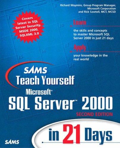 9780672324697: Sams Teach Yourself Microsoft SQL Server 2000 in 21 Days (2nd Edition)